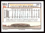 1992 Topps #553  Edgar Martinez  Back Thumbnail
