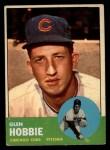 1963 Topps #212  Glen Hobbie  Front Thumbnail