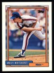 1992 Topps #419  Wally Whitehurst  Front Thumbnail
