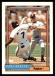 1992 Topps #162  Paul Faries  Front Thumbnail