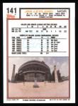 1992 Topps #141  Jim Leyland   Back Thumbnail