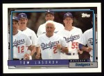 1992 Topps #261  Tommy Lasorda  Front Thumbnail