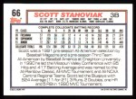 1992 Topps #66  Scott Stahoviak  Back Thumbnail