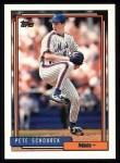 1992 Topps #287  Pete Schourek  Front Thumbnail