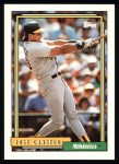 1992 Topps #100  Jose Canseco  Front Thumbnail