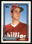 1992 Topps #497  Andy Ashby  Front Thumbnail