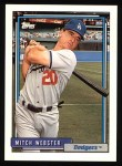 1992 Topps #233  Mitch Webster  Front Thumbnail
