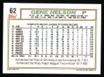 1992 Topps #62  Gene Nelson  Back Thumbnail