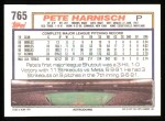 1992 Topps #765  Pete Harnisch  Back Thumbnail