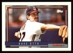 1992 Topps #499  Dave Otto  Front Thumbnail