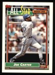 1992 Topps #402   -  Joe Carter All-Star Front Thumbnail