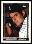 1992 Topps #452  Wilson Alvarez  Front Thumbnail