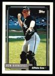1992 Topps #153  Ron Karkovice  Front Thumbnail