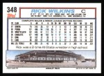 1992 Topps #348  Rick Wilkins  Back Thumbnail