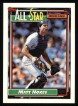 1992 Topps #404   -  Matt Nokes All-Star Front Thumbnail