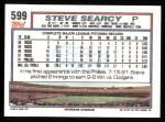 1992 Topps #599  Steve Searcy  Back Thumbnail