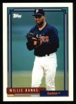 1992 Topps #747  Willie Banks  Front Thumbnail