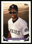 1993 Topps #591  Alex Cole  Front Thumbnail
