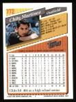 1993 Topps #772  Chito Martinez  Back Thumbnail
