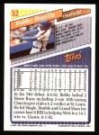 1993 Topps #52  Bobby Bonilla  Back Thumbnail