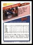 1993 Topps #177  Lenny Harris  Back Thumbnail