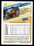 1993 Topps #97  Scott Fletcher  Back Thumbnail