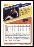 1993 Topps #252  Xavier Hernandez  Back Thumbnail