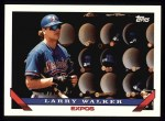1993 Topps #95  Larry Walker  Front Thumbnail