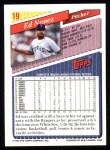 1993 Topps #19  Ed Nunez  Back Thumbnail