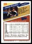 1993 Topps #306  Damon Berryhill  Back Thumbnail