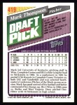 1993 Topps #419  Mark Thompson  Back Thumbnail