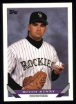 1993 Topps #719  Butch Henry  Front Thumbnail