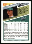 1993 Topps #629  Cris Carpenter  Back Thumbnail