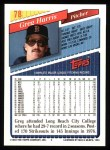 1993 Topps #78  Greg W. Harris  Back Thumbnail
