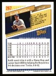 1993 Topps #267  Keith Miller  Back Thumbnail