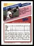 1993 Topps #237  Jose Vizcaino  Back Thumbnail