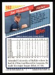 1993 Topps #162  Joe Hesketh  Back Thumbnail