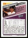 1993 Topps #774  Curt Leskanic  Back Thumbnail
