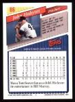 1993 Topps #86  John Habyan  Back Thumbnail