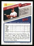 1993 Topps #72  Jeff Grotewold  Back Thumbnail