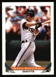 1993 Topps #225  Matt Williams  Front Thumbnail