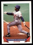 1993 Topps #15  Marquis Grissom  Front Thumbnail