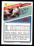 1993 Topps #15  Marquis Grissom  Back Thumbnail
