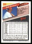 1993 Topps #566  Rod Brewer  Back Thumbnail