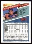 1993 Topps #464  Greg Colbrunn  Back Thumbnail