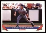 1993 Topps #464  Greg Colbrunn  Front Thumbnail