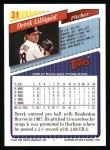 1993 Topps #31  Derek Lilliquist  Back Thumbnail