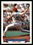 1993 Topps #208  Mike Hartley  Front Thumbnail