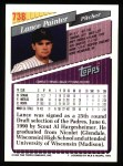 1993 Topps #738  Lance Painter  Back Thumbnail