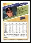 1993 Topps #129  Joe Grahe  Back Thumbnail